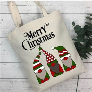 Handbags - Christmas Gnome Tote Bag
